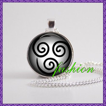New arrival cheap Avatar the Last Airbender Pendant Air Nomad Necklace Jewelry Glass necklace avatar air movie jewelry