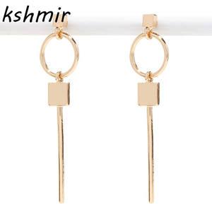 550752d8e kshmir retro stud earrings square long golden design