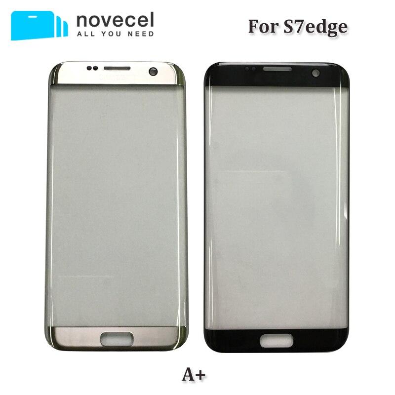 Novecel 10 pièces Un + G935 Avant lentille en verre Pour Samsung s7 bord écran lcd extra-atmosphérique écran tactile remplacement de verre de l'écran