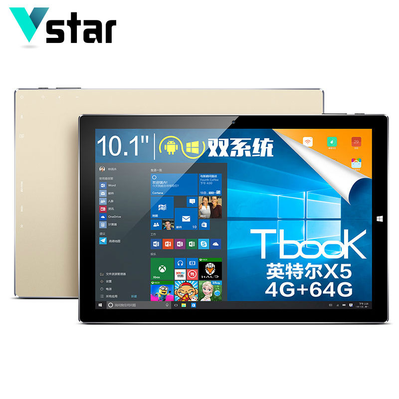 TECLAST TBook10S tbook 10S Dual OS 4GB RAM 10.1 2 in 1 Tablet PC IntelZ8300 Windows 10 & Android 5.1 64GB ROM Quad Core