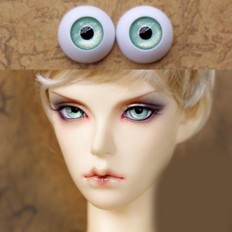 Pearl Green bjd doll eyes  for BJD Dolls toys sd eyeball for 1/3 1/4 1/6 8mm 14mm 16mm 18mm 20mm Acrylic EYEs for dolls handmade chinese ancient doll tang beauty princess pingyang 1 6 bjd dolls 12 jointed doll toy for girl christmas gift brinquedo