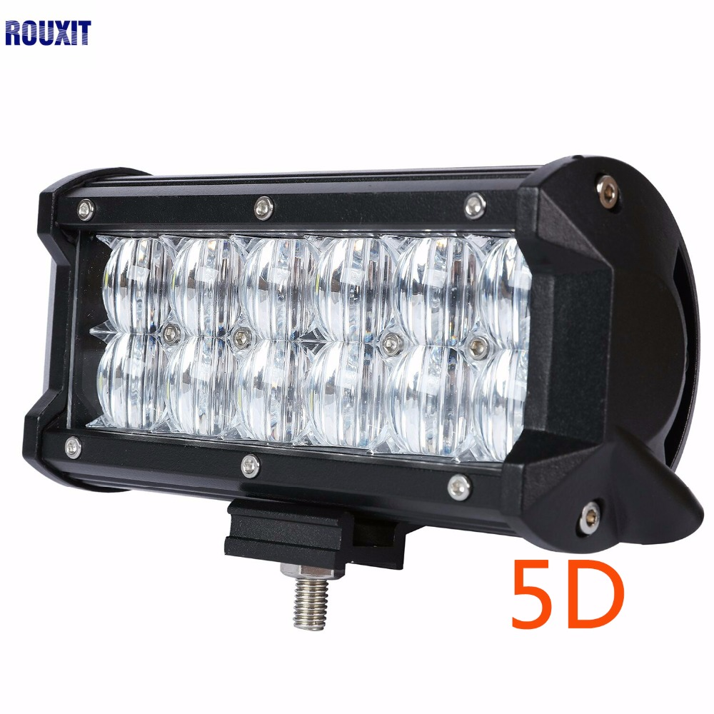 7 inch 36W LED Work Light Bar 5D Fog lamp for Jeep Automobile Motorcycle Tractor Boat Off Road 4WD 4x4 Truck SUV ATV Spot Flood image