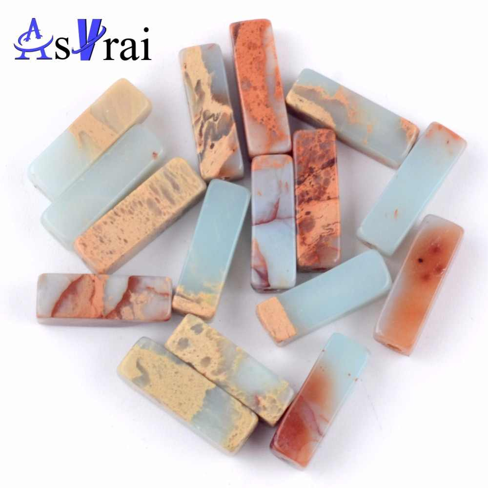 30pcs/strand Natural Shoushan Stone Column Beads for Jewelry Making 4*13mm Long Tube Spacer Beads Diy Women Bracelet Accessories