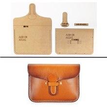 1set Hard Kraft Paper Stencil Template For Diy Leather Handmade Craft Women Handbag Shoulder Bag Sewing Pattern 11 5x8 5cm