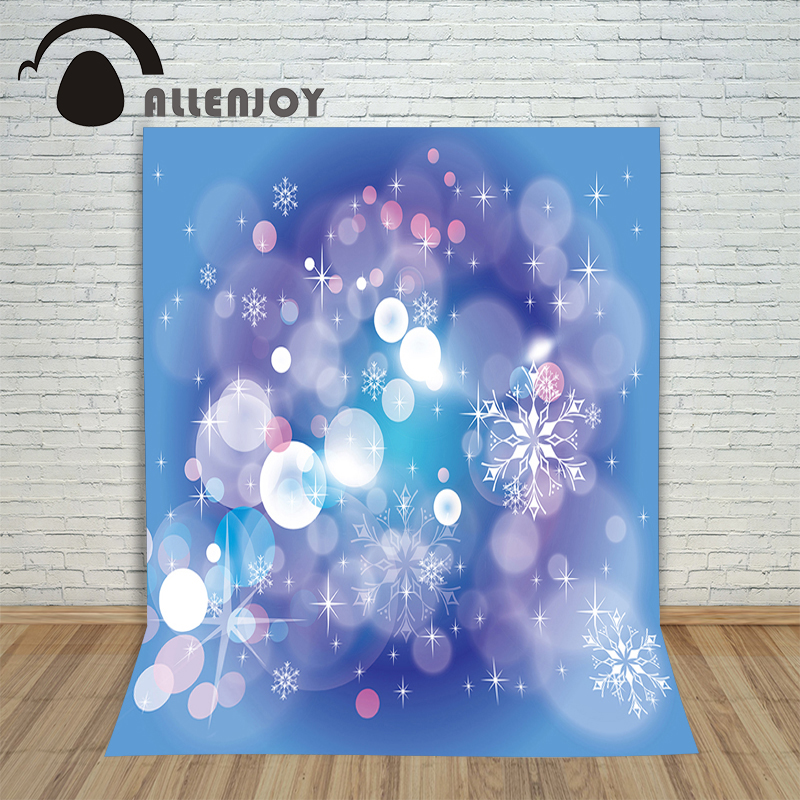 Photo background photography backdrop Christmas snowflakes blue newborn photographic picture for the studio 150cm