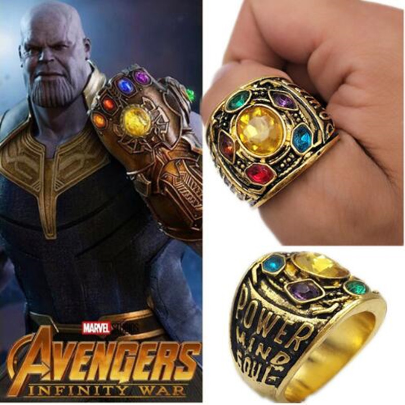 Thanos Ring Infinity War Thanos Infinity Gauntlet Power Cosplay Prop Alloy Ring Jewelry