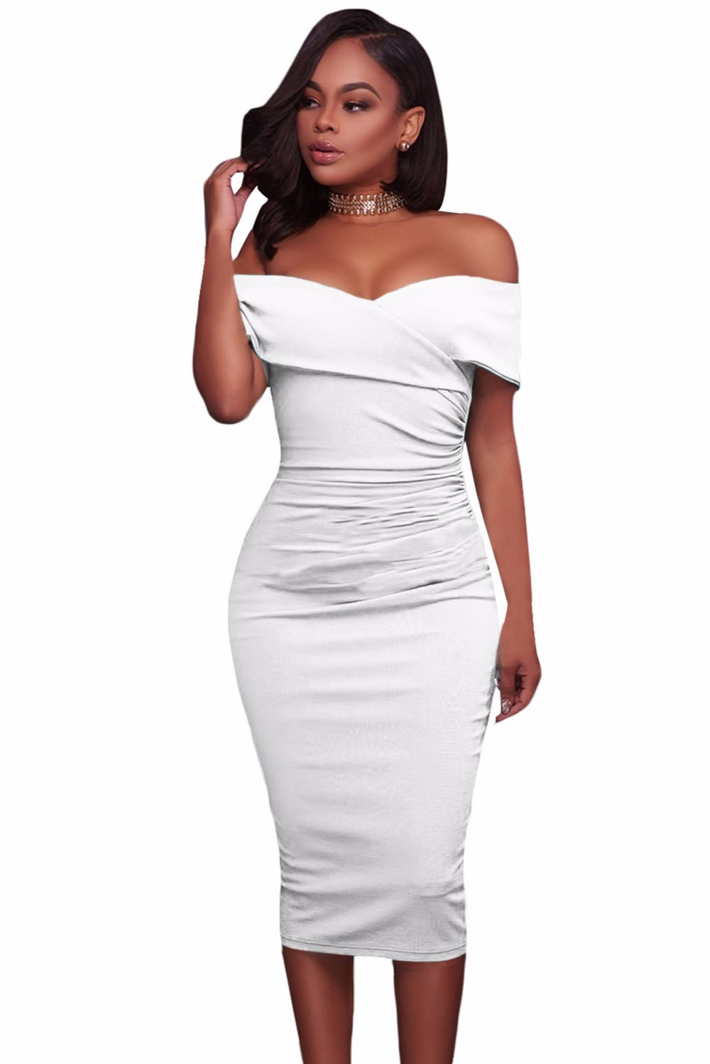 White-Ruched-Off-Shoulder-Bodycon-Midi-Dress-LC61507-1-2