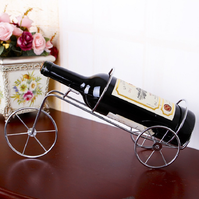 Wedding Creative Iron Bicycle Wine Rack Holder Vinho Wine Bottle Shelf  Rejilla Para Copas Kitchen Craft Accessories Decoration In Wine Racks From  Home ...