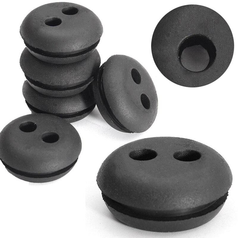 5pcs 2 Hole 20mm Black Assortment Fastener Kit Rubber Fuel