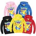 2016 2-7 Т pokemon покемон толстовка мальчики девочки одежда детские толстовки футболки малышей толстовка pokemon свитер picachu