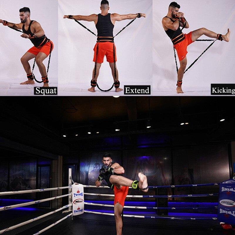 Rebond formateur corde élastique résistance bandes Fitness extenseur basket-ball saut entraînement jambe étirement agilité entraînement Gym Roe - 6