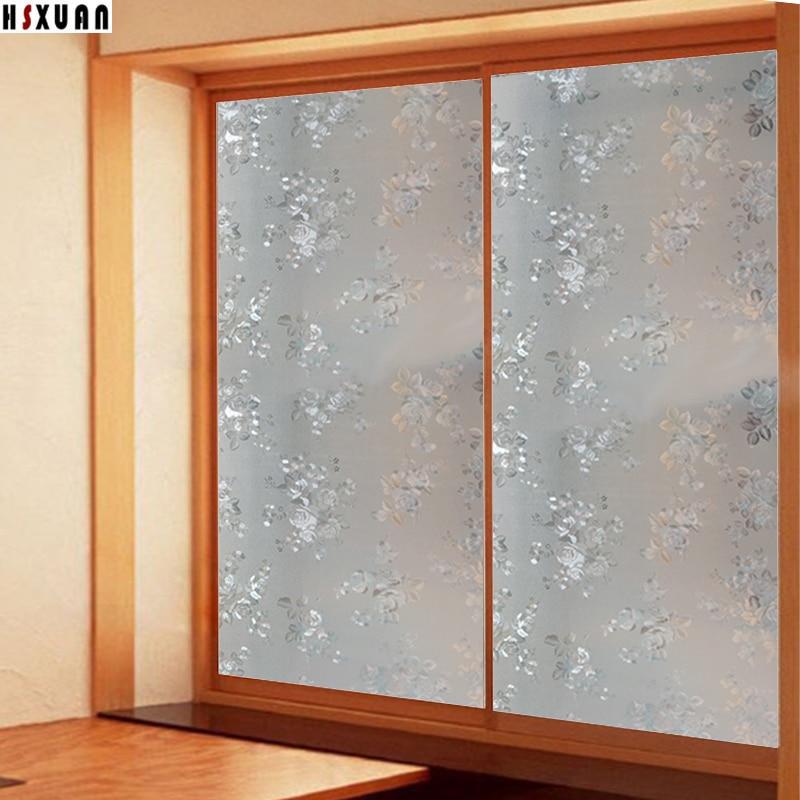 Charmant 70x100cm Decorative Window Insulation Film Sunscreen 3d Flower Cam Sliding  Door Static Window Stickers Hsxuan Brand 700608