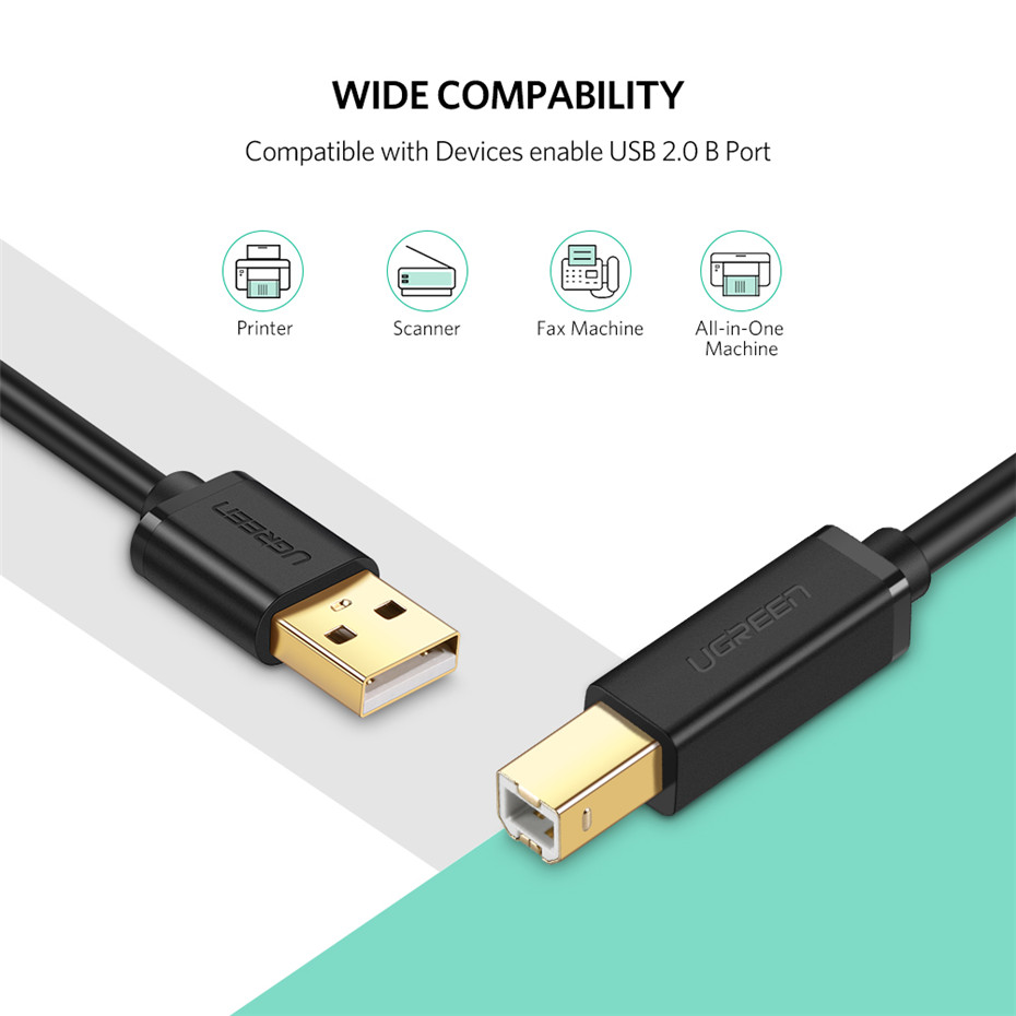 USB Printer Cable USB Type B Male to A Male USB 3.0 2.0 Cable 7