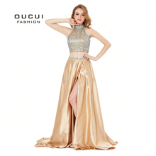 oucui Luxury Evening Dress Satin Prom Dresses Party Gown