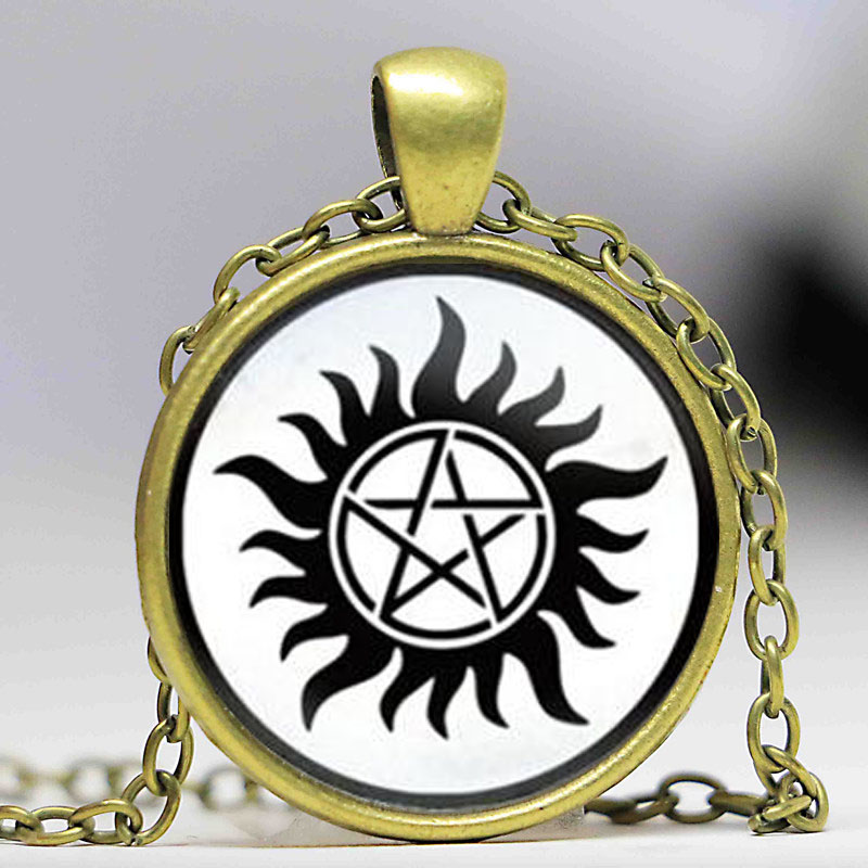 92c73173f4f2 Special Offer Hot Maxi Necklaces Collares Collier Supernatural Sam Dean  Winchester Necklace Jewelry Glass Dome Pendant