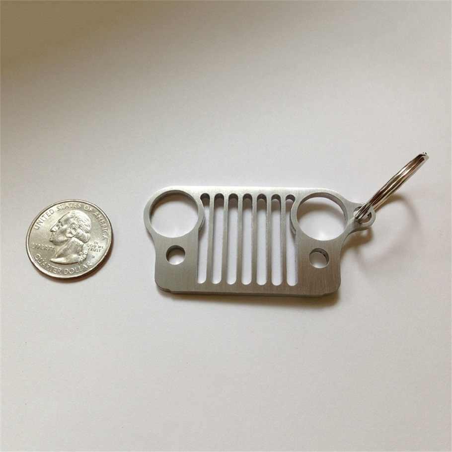 Новое поступление автомобильный брелок гриль из нержавеющей стали брелок для решетка джипа CJ JK TJ YJ XJ Лидер продаж