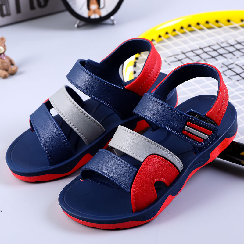 Summer Boys Leather Open toe Sandals Sandy Beach Student Casual Shoes Casual