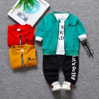 baby infant newborn girl boy costume toddler kids 3pieces clothes 2019 set spring autumn outfit first second years bithday wear