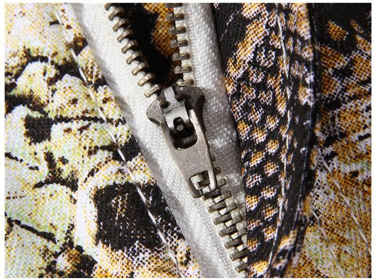 Snakeskin Print Mens Jeans Brand Denim Skinny Tights Slim Fit Biker Jeans Men Stretch Cotton Male Designer Pencil Pants Jogger 5