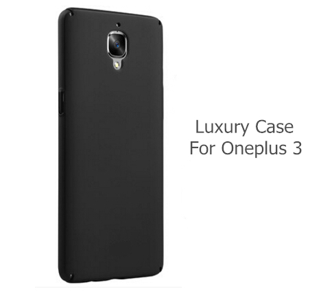 more photos 94c0e a584d US $3.98  back cover for Oneplus 3 case pc matte shell for oneplus 3t or 5  cases and covers oneplus5 original accessories-in Fitted Cases from ...