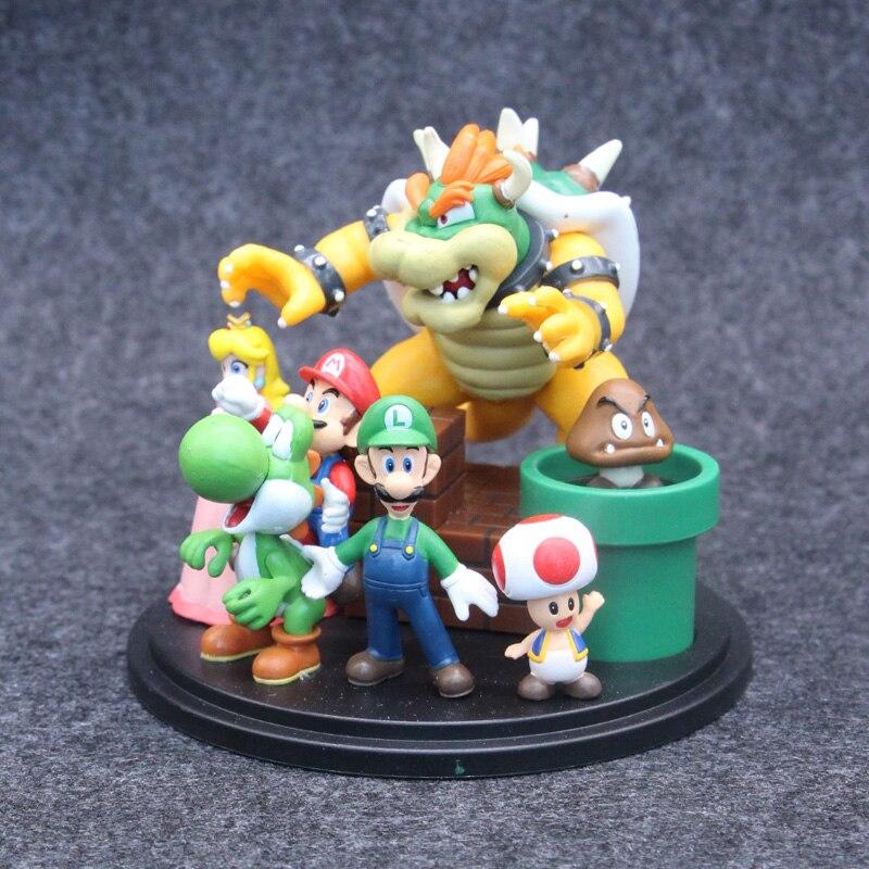 Game Super Mario Statue Figure Model Toys