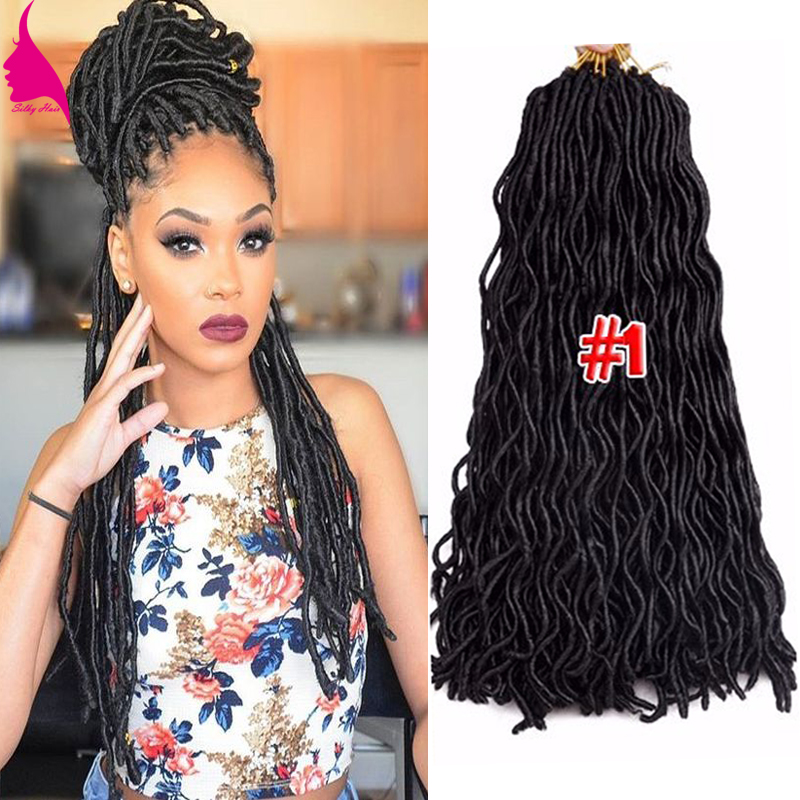 24 24Roots Wavy Crochet Braids Faux Locs Crochet Hair