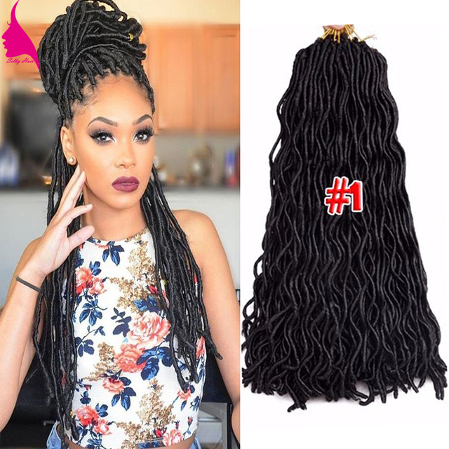 24 24roots Wavy Crochet Braids Faux Locs Crochet Hair Faux Goddess