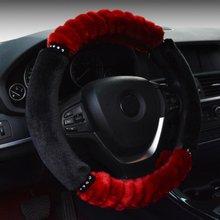 Housse de volant de voiture, en peluche chaude, en laine de lapin, pour ford, kia, chevrolet, skoda ,deri direcsiyon, couvre volant, hiver