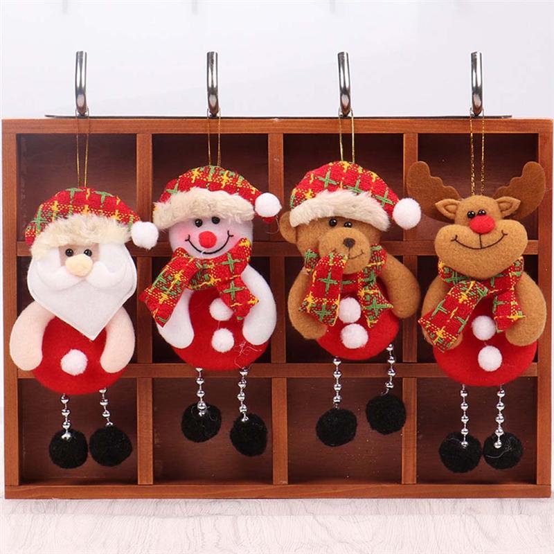 Welding Equipment 6pcs Xmas Cloth Dolls Hanging Angel Christmas Decorative Doll Pendants For Decorating Door Christmas Tree Window Fireplace