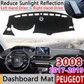 Для Peugeot 3008 2017 2018 2019 Mk2 3008GT GT Противоскользящий коврик для приборной панели коврик для защиты от солнца Dashmat защита ковра автомобильные аксес...