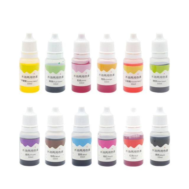 New Hot 10 ml Artesanal de Sabão Manual do Sabão Líquido Cor de Base de Pigmentos de Tinta Corante Pigmento DIY Tool Kit de Corante