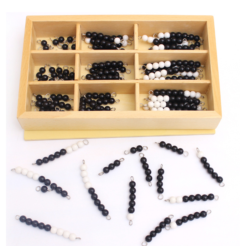 Baby Montessori Materials Early Educational Wooden Toy Black & White Beads Checker Board Math Toys Childhood Preschool Training montessori materials hand balance coordination wood sensory toys early educational toys preschool can smarter