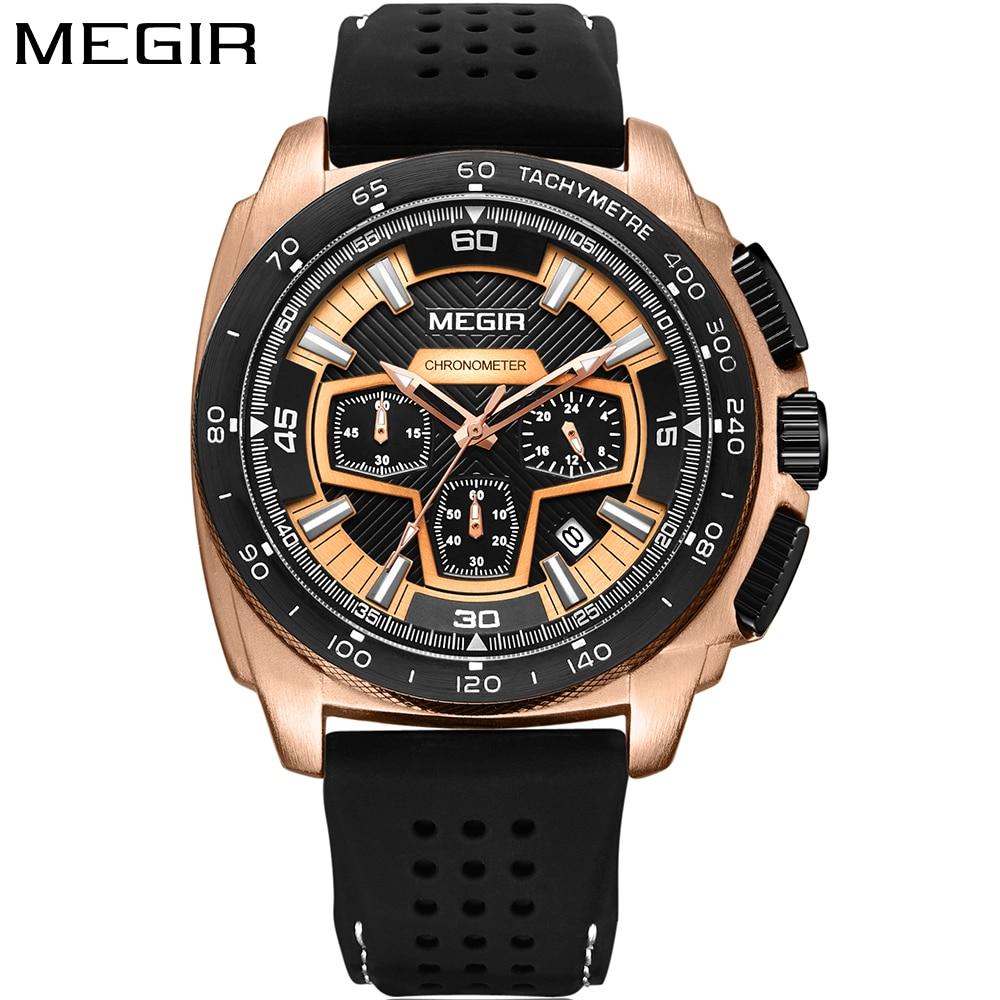Новий MEGIR кварцовий спортивний годинник для дорослих чоловіків для ... b5e8783950377
