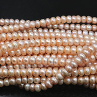 8 9mm Natural Pearl Spacer Bead Orange Loose Abacus Freshwater Pearls Beads for Jewelry Making DIY Necklace Bracelet 14.5 A490