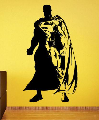 Superman Wall Decal Vinyl Sticker Comics Superhero Atr Home Wall Decor  40X22inch
