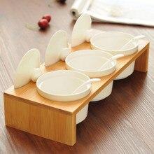 3 sätze kombination Keramik gewürzdosen vorratsglas deckel küche Storage Tank zuckerdose latas de condimentos salzstreuer
