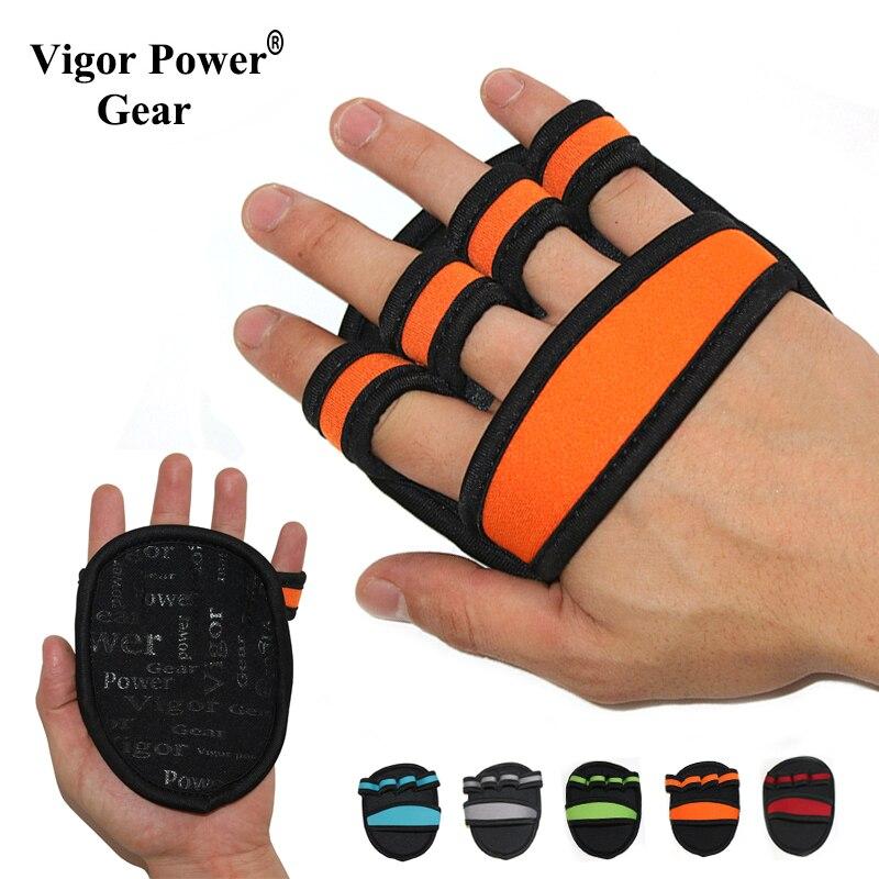 VigorPowerGear 5mm dicke, Nicht-slip Workout Handschuhe für Pull Ups bar Gym hand Griffe für hanteln Grip Pads gewichtheben handschuhe