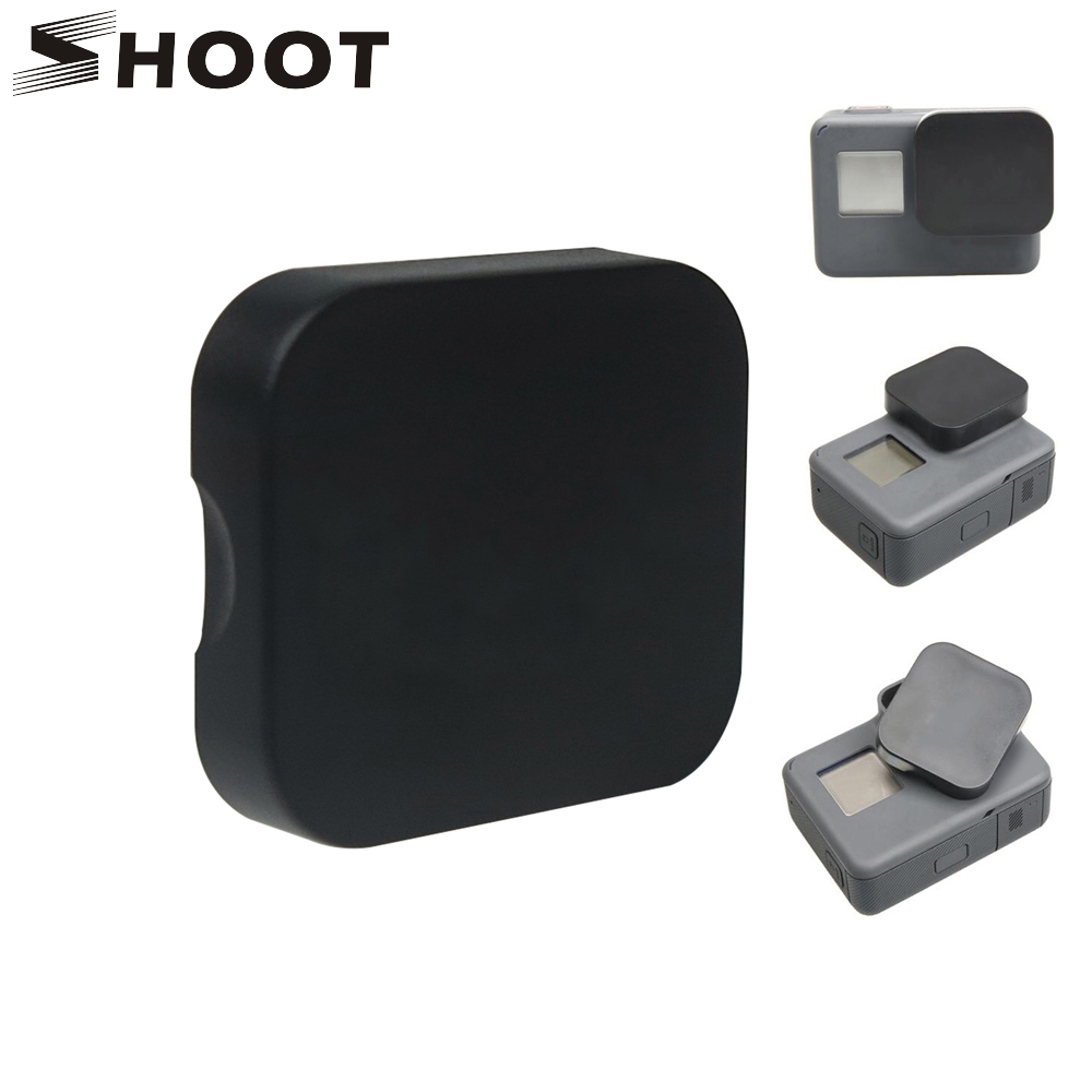 SHOOT Hard Protective Lens Cap For GoPro Hero 7 6 5 Black Action Camera Protector Cover for Go pro 7 6 5 Action Camera Accessory orbmart 6 pcs every 2 pieces lens cap cover case glass lens and screen protector film for gopro hero 5 6 7 black camera