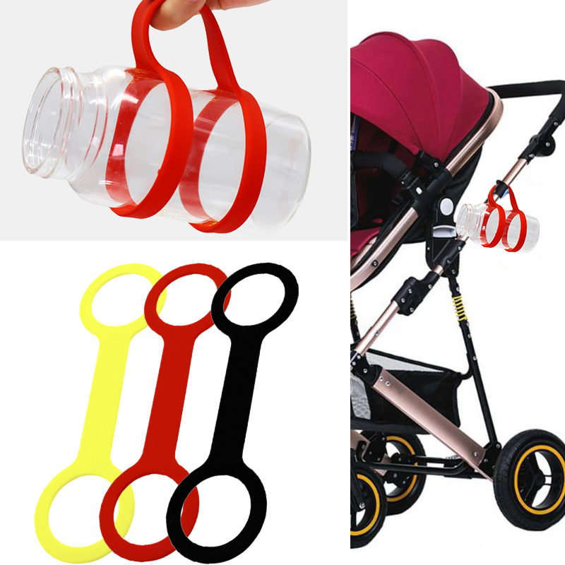 2018 Bottle Accessories Portable Baby Stroller Accessories Silicone Feeding Shatter-Resistant Care Baby Cart Bottle Holder