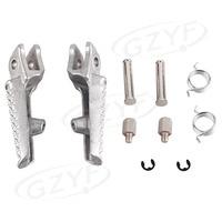 CNC Aluminum Front Foot Peg Footrest for Honda CBR600RR F5 2003 2014 & CBR1000RR 2004 2014 & CB1000R 2008 2011 Silver