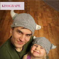 Men S Knitted Caps Beanies Cartoon Ox Horns Women S Animal Pattern Hats For Party Festival