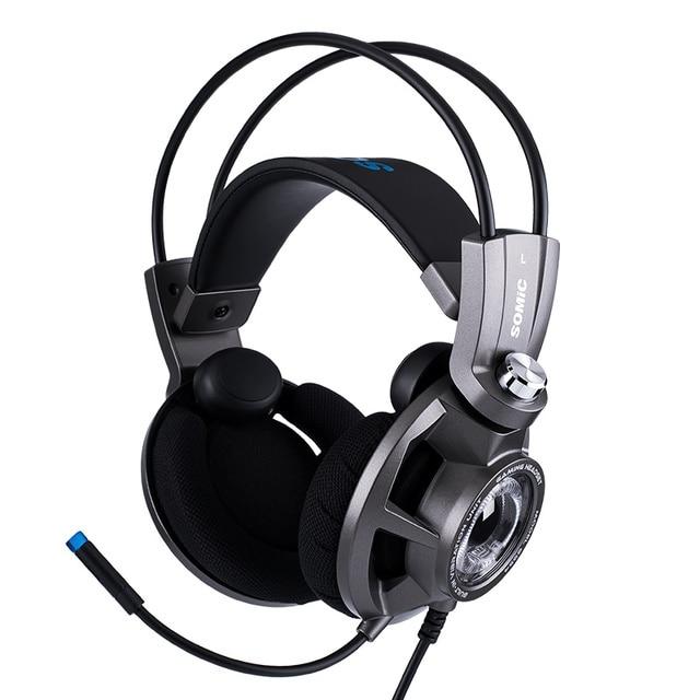 Somic G954 سماعة الألعاب الاهتزاز 7.1 الظاهري المحيطي USB لعبة سماعات مع هيئة التصنيع العسكري للكمبيوتر المحمول ألعاب