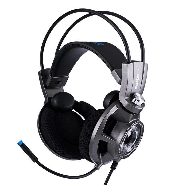 Somic G954 Vibration Gaming Headset 7,1 Virtuelle Surround USB Spiel Kopfhörer Kopfhörer mit Mic für computer Laptop Gamer