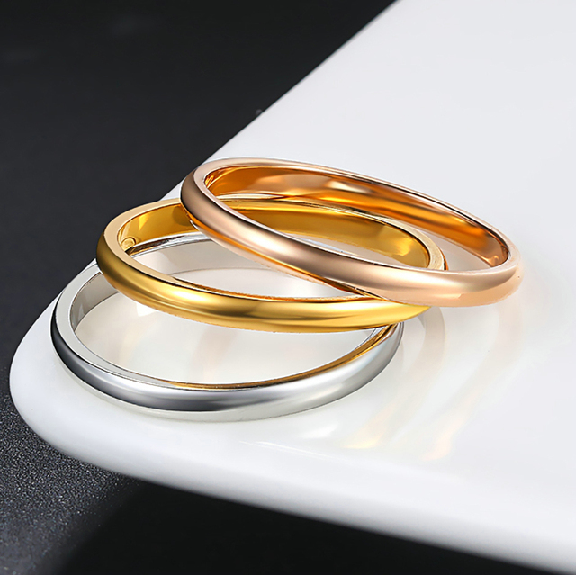 Retro Stainless Steel Rings For Women Men Titanium Ring Korean Style Dating Couple Rings Jewellry Simple Fashion Jewelry R830 5