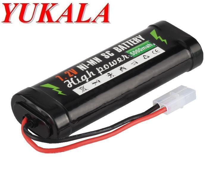 YUKALA SC NI-MH 7.2V 5000mAh battery for RC car RC tank RC boat free shipping yukala 4 8 v 700mah n cd aa battery for rc car rc boat rc tank 2pcs lot free shipping