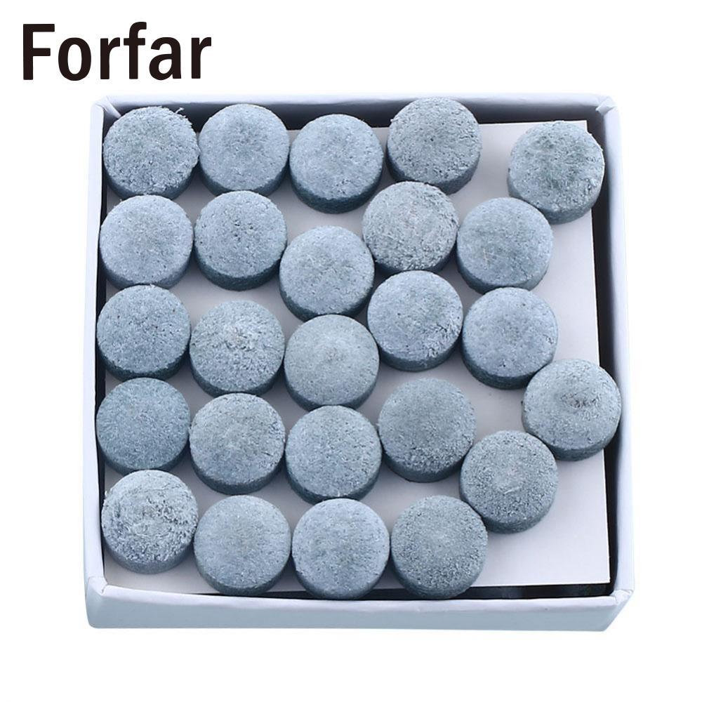 Forfar Set-Of 50pcs Laminated Pool Snooker Table Cue Tips 9/10mm Super Medium Soft
