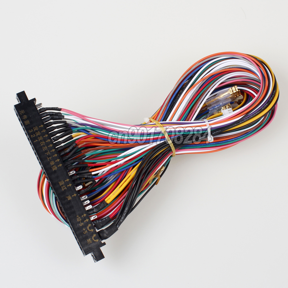New JAMMA 56 Pin Interface Cabinet Wire Wiring Harness Board Cable for  Arcade Machine Video Game Consoles Pandora Box 2 3 4 Game