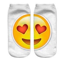 2016 new Casual 3D Socks Men's Women's Socks Funny Cute Meias Feminina Emoji Socks Unisex Sokken Characters Low Cut Ankle Socks