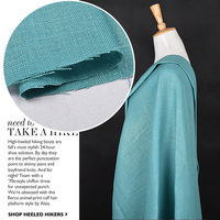 Hello Mint Green Bronzing Sack Cloth Texture Stiffening Profile Pure Linen Coat Skirt Shorts Suit Cloth