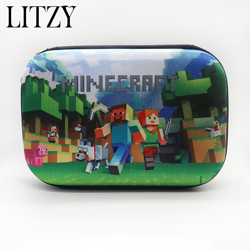 Minecraft Pencil Case for Boys Pencil Case Multifunction Pencil Box Big Capacity Pencil Bag School Supplies Bts Stationery Gift new leather pencil case bag for school boys girls vintage pencil case box stationery products supplies as gift for student